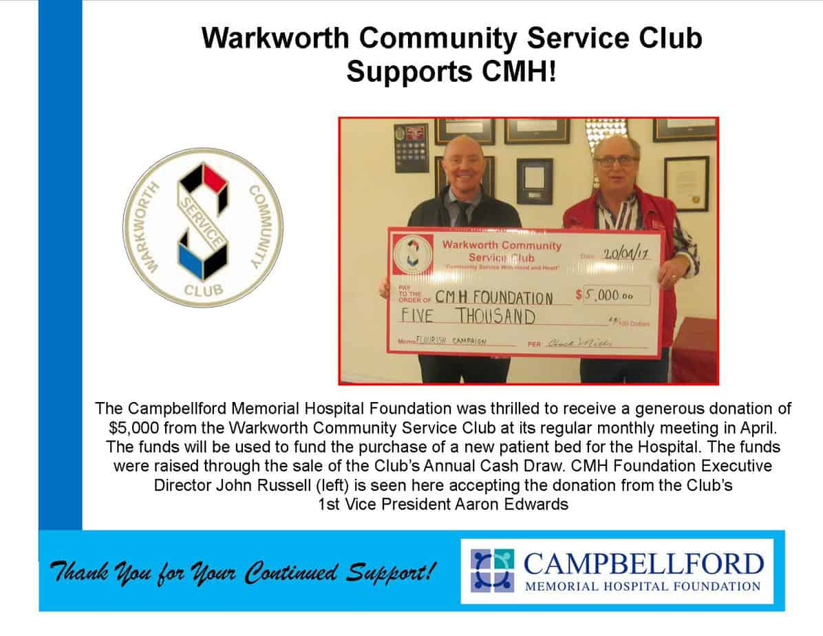 Warkworth Community Service Club 2017