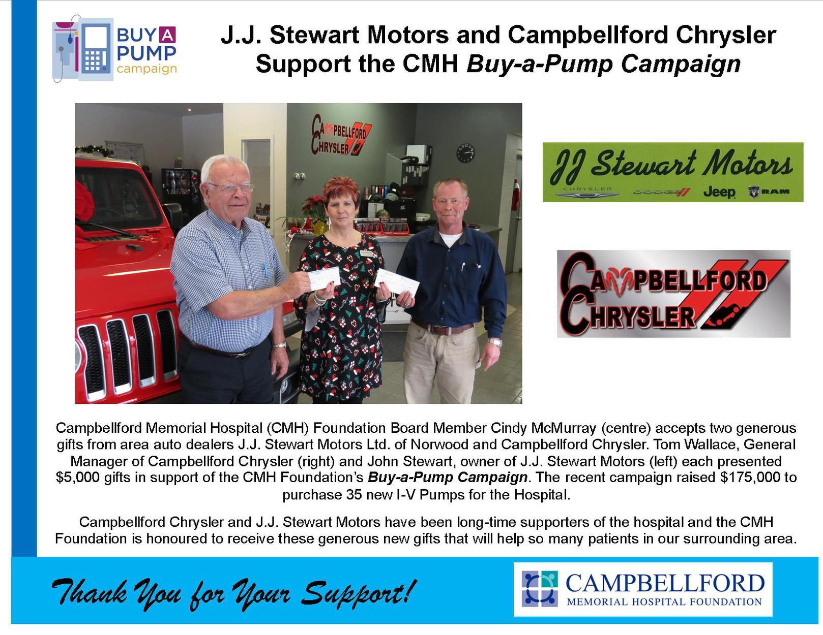 JJ Stewart & Campbellford Chrysler 2019