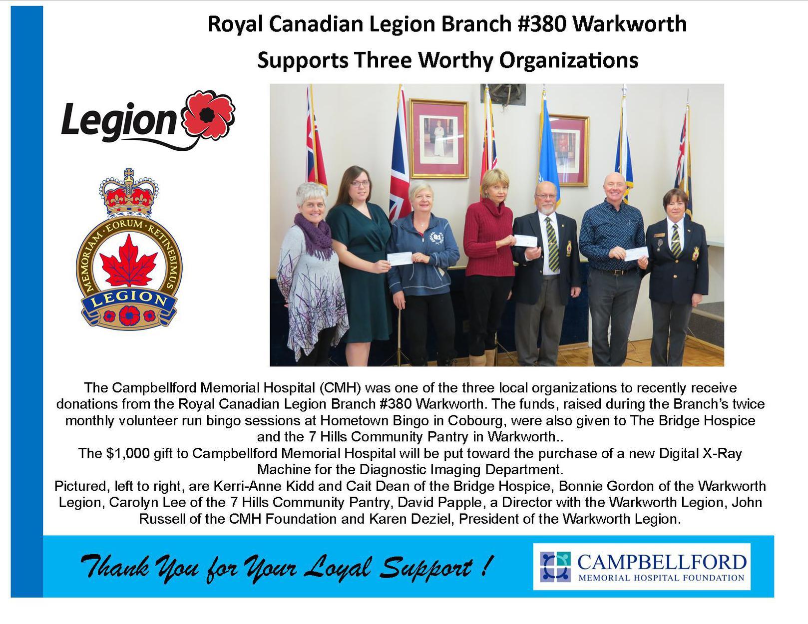 Legion Branch #380 Warkworth 2019