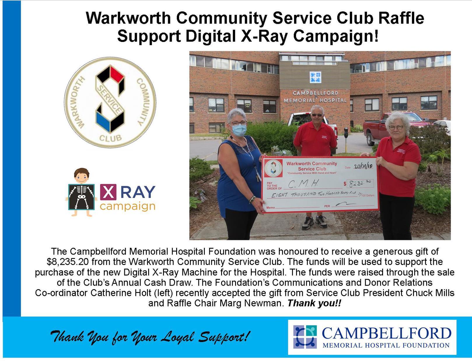 Warkworth Community Service Club 2020